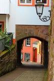 Opinião da rua em Saarburg, alemão Foto de Stock
