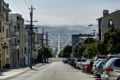 Opinião da rua em San Francisco California United States de América Fotografia de Stock