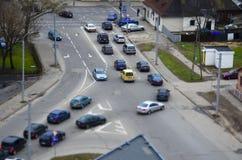 A opinião da rua, estrada transversaa imagem de stock