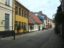 Opinião da rua, Malmo, Suécia Fotografia de Stock