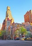 Opinião da rua na igreja de nosso salvador em Manhattan Foto de Stock Royalty Free