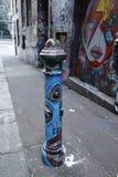 Opinião da rua na pista do Hosier em Melbourne Imagem de Stock Royalty Free