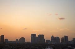 Opinião da skyline da noite adiantada de Fort Lauderdale Imagens de Stock Royalty Free