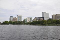 Opinião da skyline de Boston de Charles River no estado de Boston Massachusettes de EUA Imagens de Stock Royalty Free