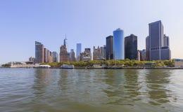Opinião da skyline de Manhattan, NYC, NY, EUA Foto de Stock Royalty Free