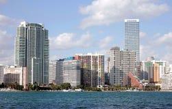 Opinião da skyline de Miami imagens de stock