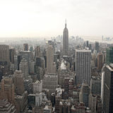 Opinião da skyline de New York City de Rockefeller Fotografia de Stock Royalty Free