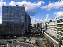 Opinião da skyline de Stocckholm fotografia de stock