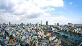 Opinião da skyline Ho Chi Minh City no dia Imagem de Stock Royalty Free