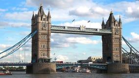 Opinião da tarde da ponte da torre, Londres vídeos de arquivo