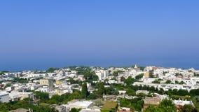 Opinião da telecadeira, Capri de Anacapri, Itália Fotografia de Stock