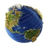 Opinião da terra do espaço Fotos de Stock