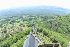 Opinião da torre, castelo de Bezdez Fotografia de Stock