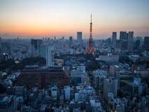Opinião da torre do Tóquio do obervatório do World Trade Center Foto de Stock Royalty Free