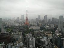 Opinião da torre do Tóquio e do Tóquio Fotos de Stock