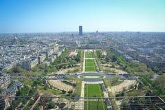 Opinião da torre Eiffel de Paris Fotos de Stock