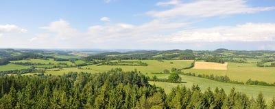 Opinião da vigia de Hoslovice Fotografia de Stock Royalty Free