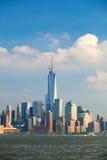 Opinião das construções de New York City, Manhattan Fotos de Stock