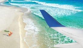 Opinião das férias do plano Foto de Stock