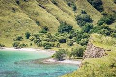 Opinião de ângulo alto da praia cor-de-rosa Foto de Stock