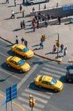 Opinião de ângulo alto de táxis turcos Foto de Stock Royalty Free