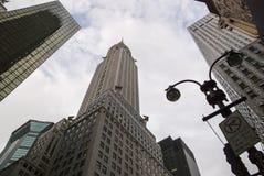Opinião de ângulo da construção de Chrysler Imagem de Stock Royalty Free
