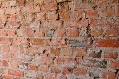 Opinião de ângulo da parede de tijolo vermelho Imagem de Stock Royalty Free