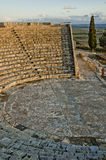 Opinião de ângulo elevado de um amphitheater romano Imagens de Stock Royalty Free