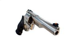 opinião de ângulo larga isolada revólver de 44 magnum Foto de Stock Royalty Free