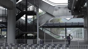 Opinião de aço da escada rolante video estoque