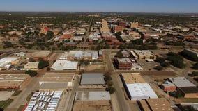 Opinião de Abilene Texas Downtown City Skyline Aerial vídeos de arquivo
