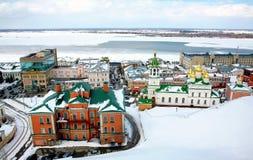 Opinião de abril da mola em Nizhny Novgorod Foto de Stock