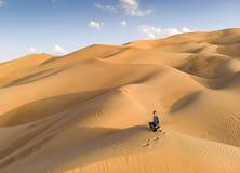 Opinião de Aeril do deserto de Liwa, parte do quarto vazio, o co o maior fotografia de stock royalty free