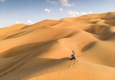 Opinião de Aeril do deserto de Liwa, parte do quarto vazio, o co o maior foto de stock