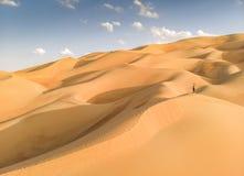 Opinião de Aeril do deserto de Liwa, parte do quarto vazio, o co o maior fotos de stock