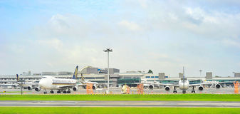 Opinião de aeroporto internacional de Changi Fotos de Stock