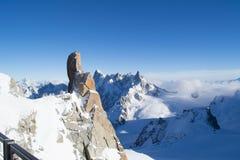 Opinião de Aiguille du Midi Imagem de Stock
