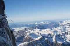 Opinião de Aiguille du Midi Fotografia de Stock