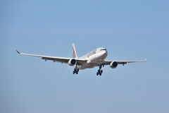 Opinião de Airbus A330-200 Fotos de Stock Royalty Free