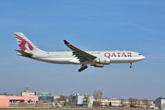 Opinião de Airbus A330-200 Foto de Stock