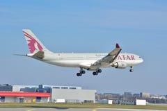 Opinião de Airbus A330-200 Imagens de Stock