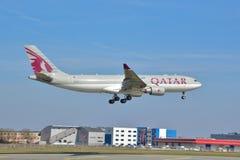 Opinião de Airbus A330-200 Fotografia de Stock