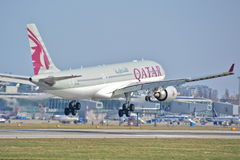 Opinião de Airbus A330-200 Foto de Stock Royalty Free