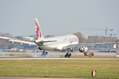 Opinião de Airbus A330-200 Imagem de Stock