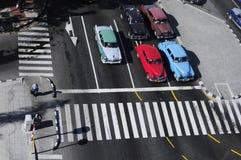 Opinião de Aireal aos carros americanos velhos clássicos Imagem de Stock