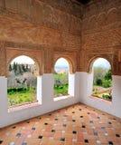 Opinião de Alhambra Window fotografia de stock