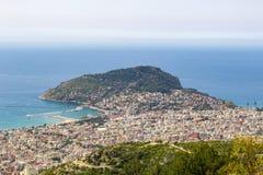 Opinião de Antalya Panomorama imagens de stock royalty free