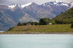 Opinião de Argentino Lake, Argentina da paisagem Fotos de Stock Royalty Free