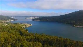 Opinião de Arial de dois castelos em Ferrol vídeos de arquivo
