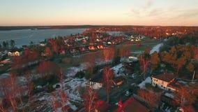 Opinião de Ariel das casas na Suécia vídeos de arquivo